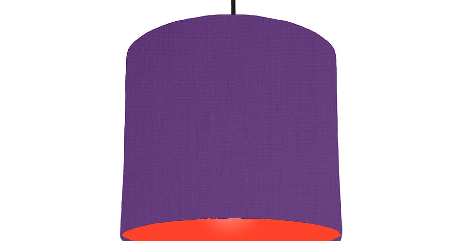 Violet & Poppy Red Lampshade - 25cm Wide