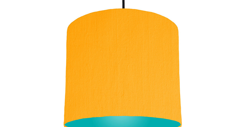 Sunshine & Turquoise Lampshade - 25cm Wide