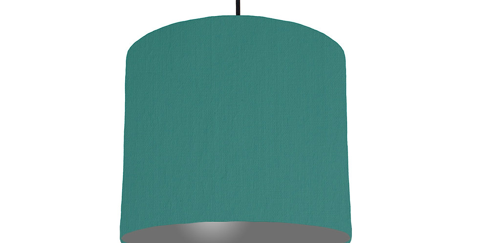 Jade & Dark Grey Lampshade - 25cm Wide
