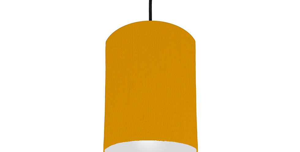Mustard & Light Grey Lampshade - 15cm Wide