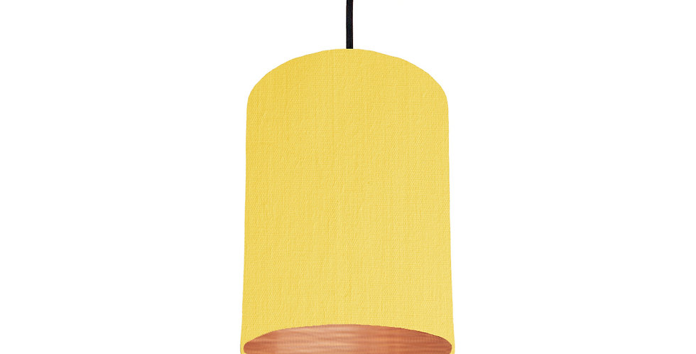 Lemon & Brushed Copper Lampshade - 15cm Wide