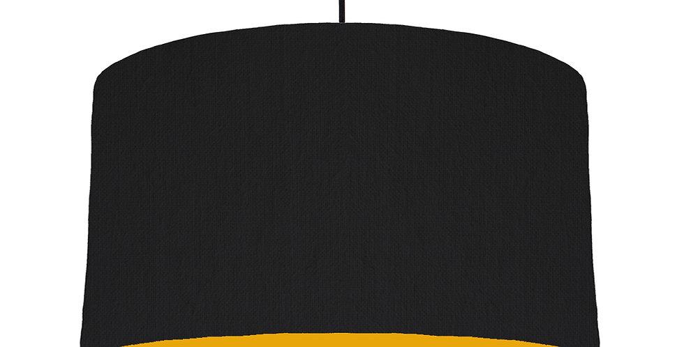 Black & Mustard Lampshade - 50cm Wide