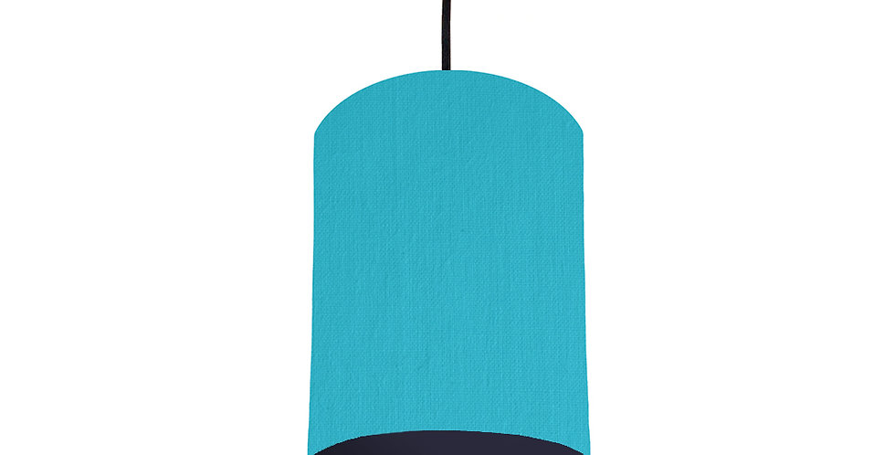 Turquoise & Navy Lampshade - 15cm Wide