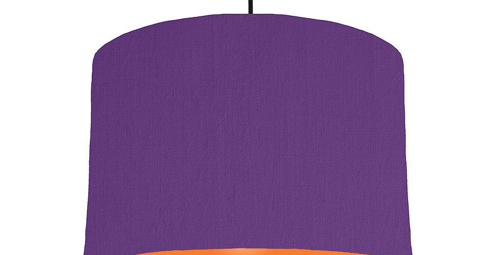 Violet & Orange Lampshade - 30cm Wide