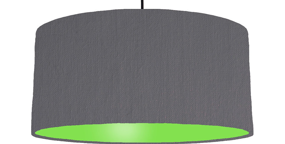 Dark Grey & Lime Green Lampshade - 60cm Wide