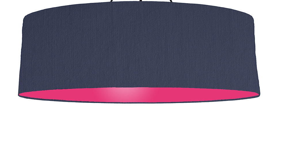 Navy Blue & Magenta Lampshade - 100cm Wide