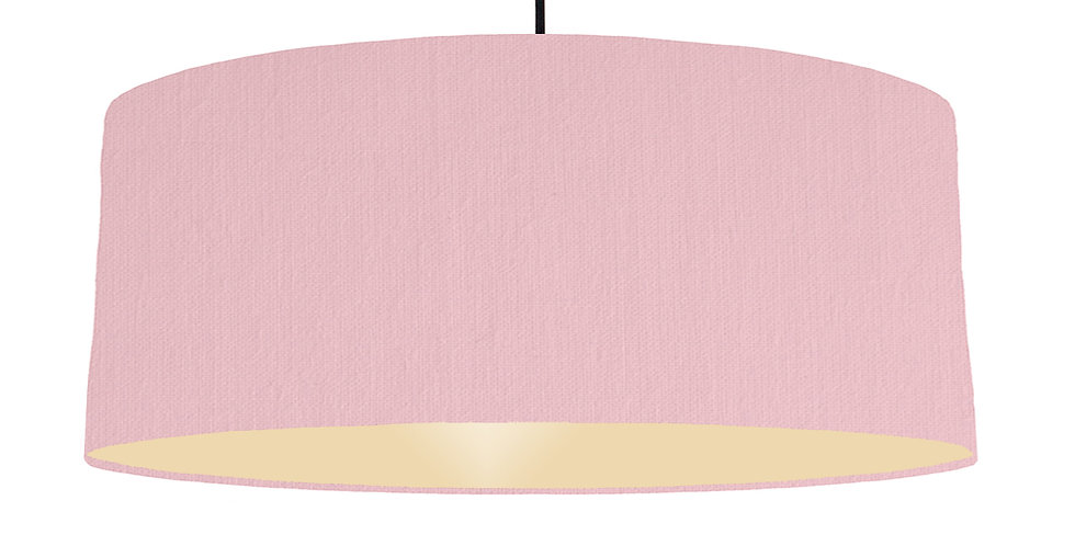 Pink & Ivory Lampshade - 70cm Wide