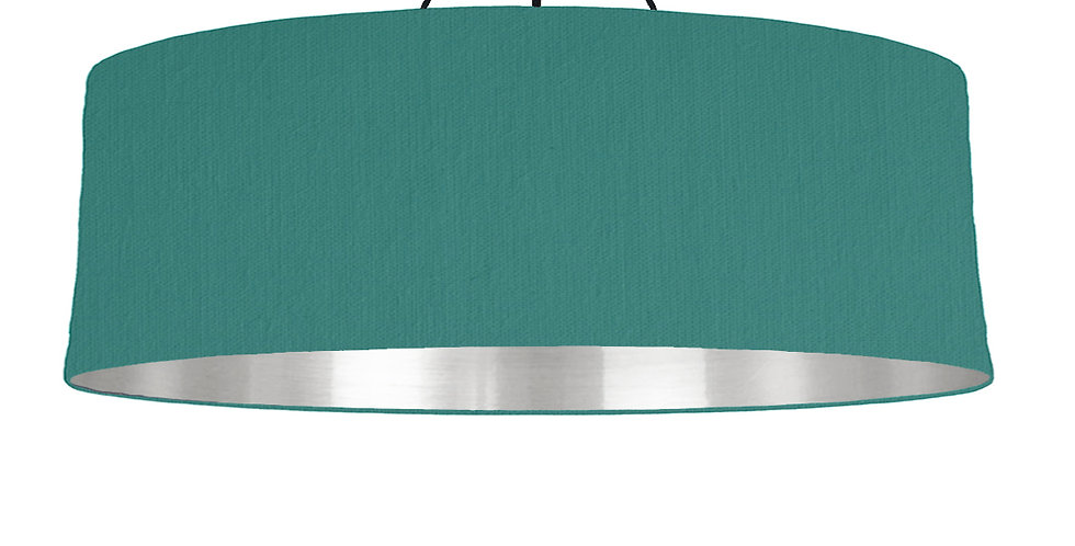 Jade & Mirrored Silver Lampshade - 100cm Wide