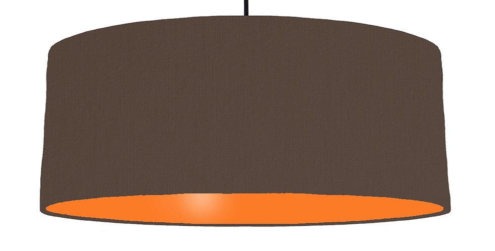 Brown & Orange Lampshade - 70cm Wide