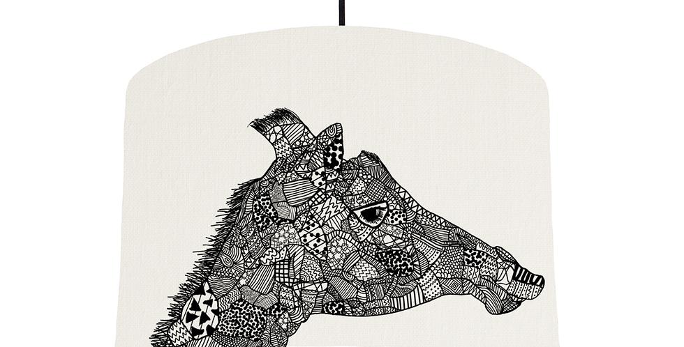 Giraffe - White Fabric
