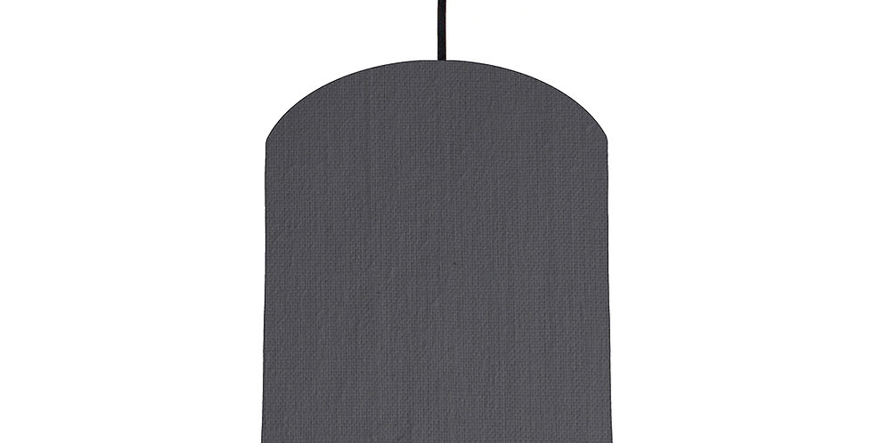 Dark Grey & Purple Lampshade - 20cm Wide