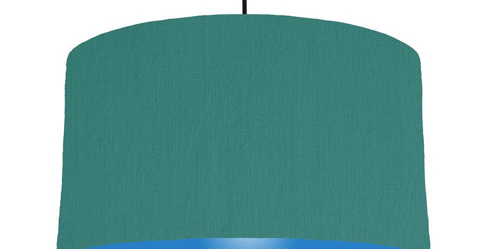 Jade & Bright Blue Lampshade - 50cm Wide