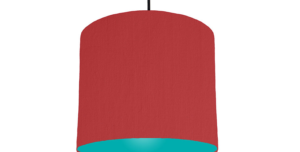 Red & Turquoise Lampshade - 25cm Wide