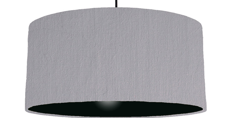 Light Grey & Black Lampshade - 60cm Wide