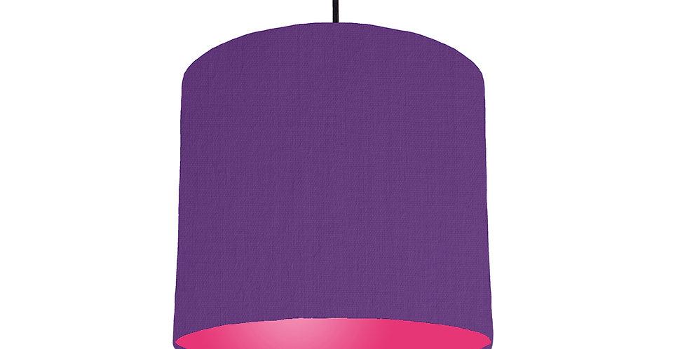Violet & Magenta Lampshade - 25cm Wide