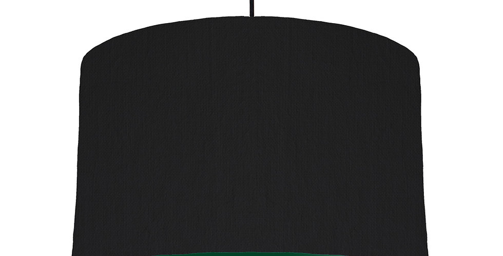 Black & Forest Green Lampshade - 40cm Wide