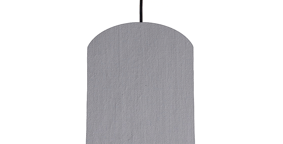Light Grey & White Lampshade - 20cm Wide