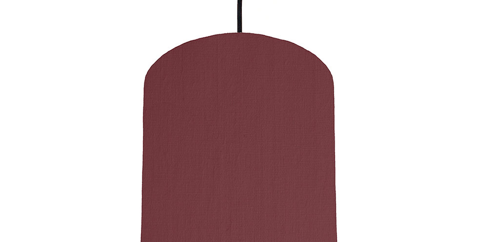 Wine Red & Brushed Gold Lampshade - 20cm Wide