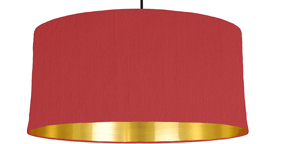 Red & Gold Mirrored Lampshade - 60cm Wide