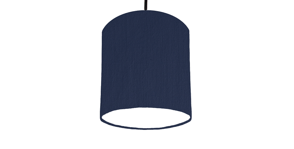 Navy & White Lampshade - 15cm Wide