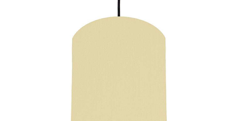 Natural & Dark Grey Lampshade - 20cm Wide