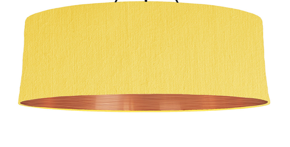 Lemon & Brushed Copper Lampshade - 100cm Wide