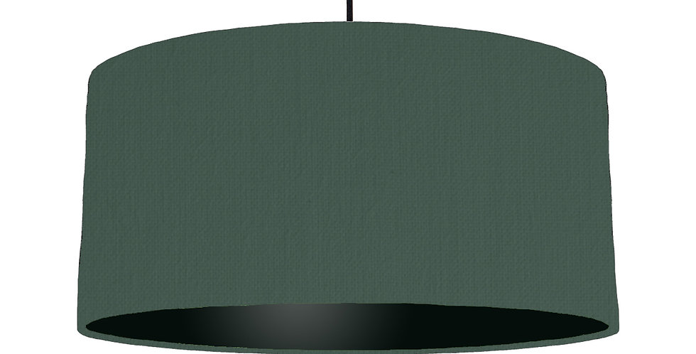 Bottle Green & Black Lampshade - 60cm Wide