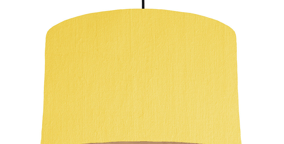 Lemon & Wooden Lined Lampshade - 40cm Wide