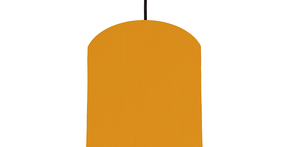 Mustard & Copper Mirrored Lampshade - 20cm Wide