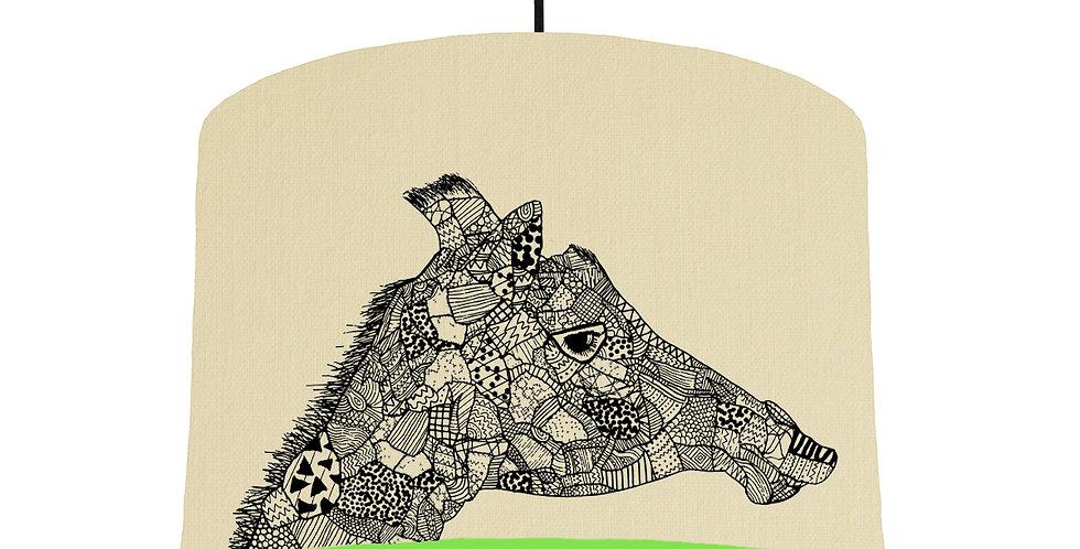 Giraffe - Natural & Lime Green Lining