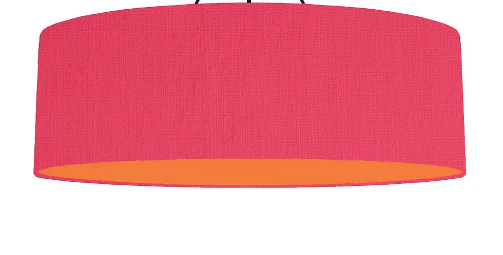 Cerise & Orange Lampshade - 100cm Wide