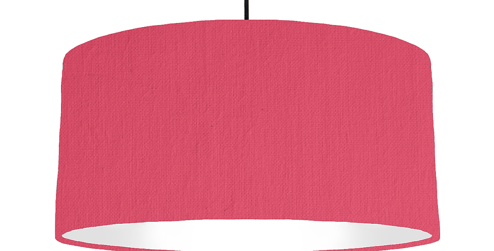 Cerise & White Lampshade - 60cm Wide