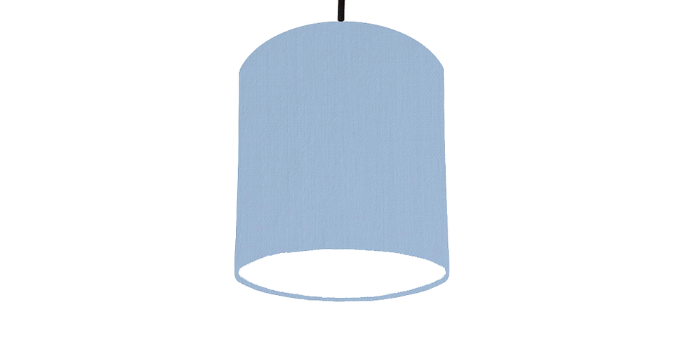 Sky Blue & White Lampshade - 15cm Wide