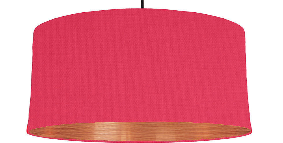 Cerise & Brushed Copper Lampshade - 60cm Wide