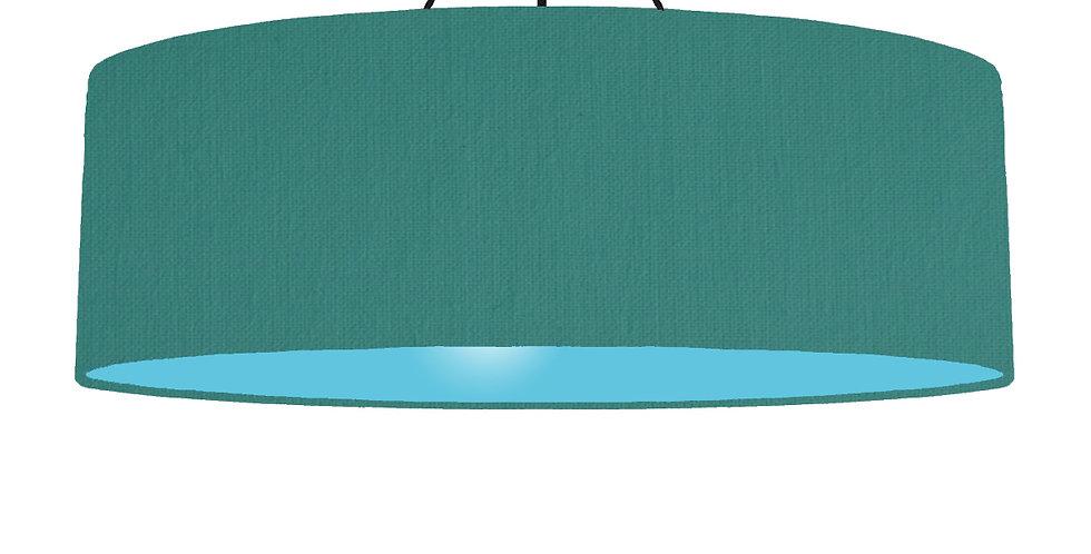 Jade & Light Blue Lampshade - 100cm Wide
