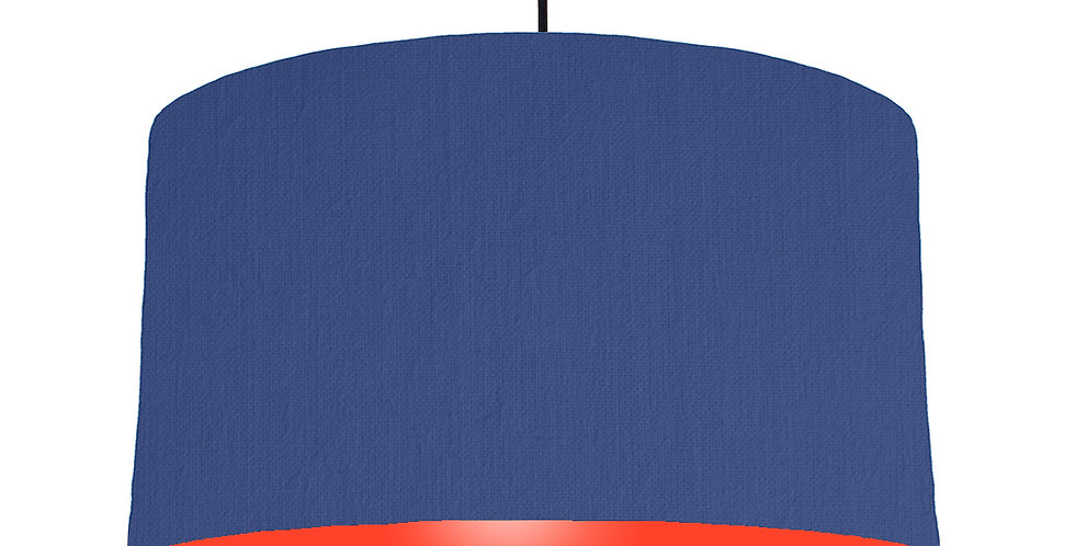 Royal Blue & Poppy Red Lampshade - 50cm Wide