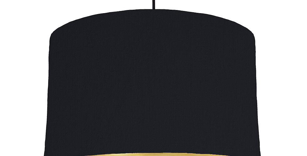 Black & Brushed Gold Lampshade - 40cm Wide