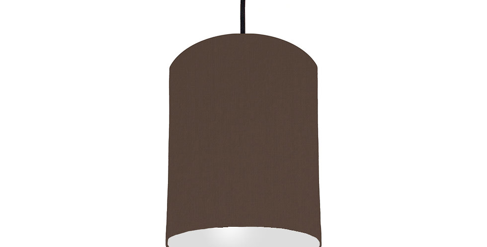Brown & Light Grey Lampshade - 15cm Wide