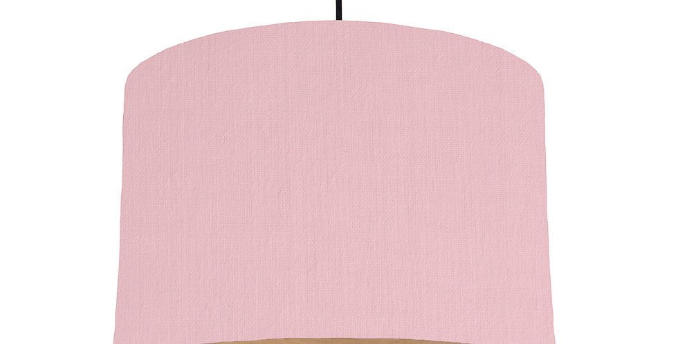Pink & Wood Lined Lampshade - 30cm Wide