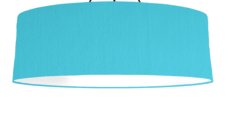 Turquoise & White Lampshade - 100cm Wide