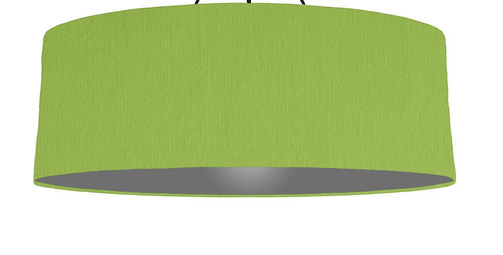 Pistachio & Dark Grey Lampshade - 100cm Wide