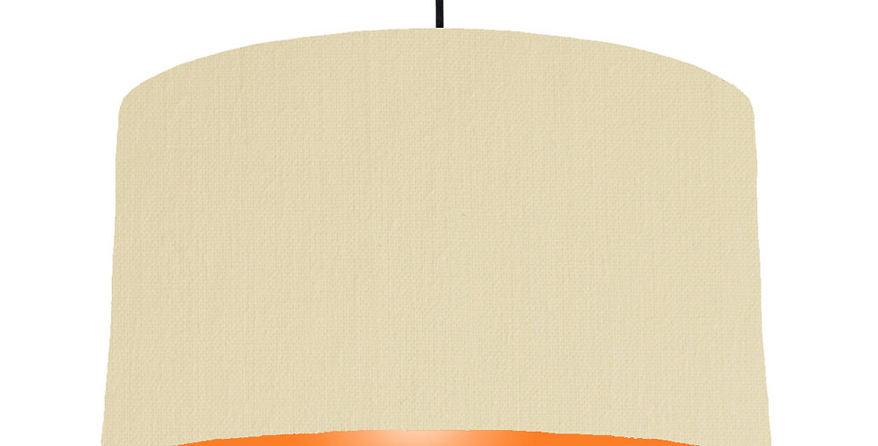 Natural & Orange Lampshade - 50cm Wide