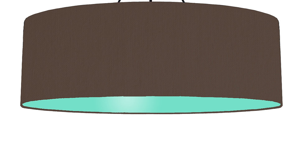 Brown & Mint Lampshade - 100cm Wide