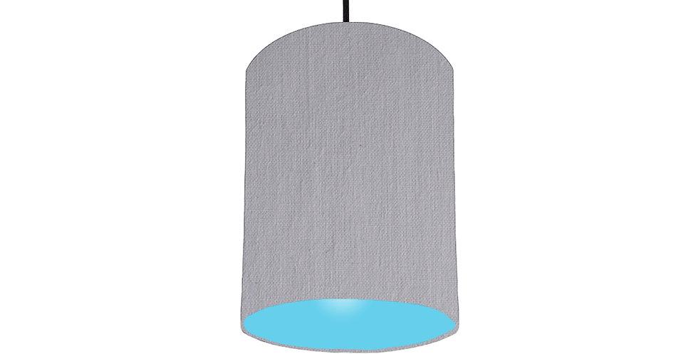 Light Grey & Light Blue Lampshade - 15cm Wide