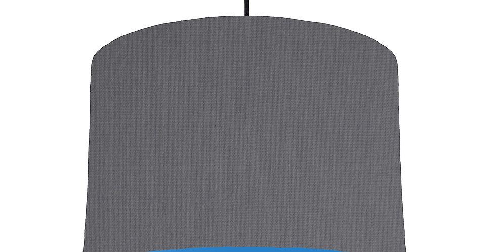 Dark Grey & Bright Blue Lampshade - 30cm Wide