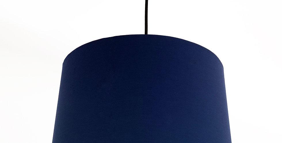 Navy Blue Bird Lined Lampshade