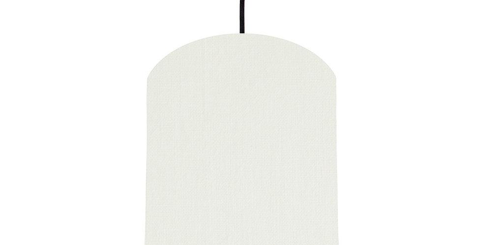 White & Black Lampshade - 20cm Wide