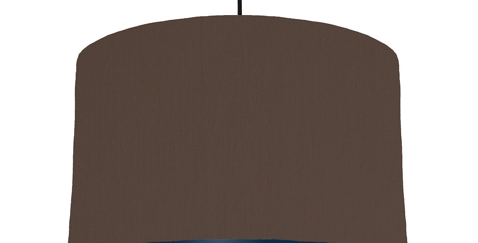 Brown & Navy Lampshade - 40cm Wide