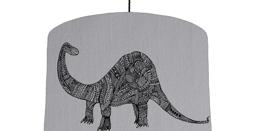 Dinosaur Shade - Light Grey Fabric