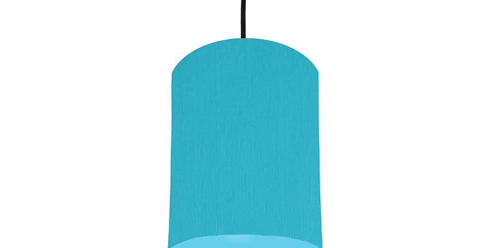 Turquoise & Light Blue Lampshade - 15cm Wide